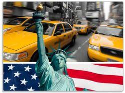 Glasunterlage New York Collage – Bild 1