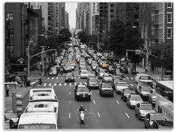 Glasunterlage New York Yellow Taxi I – Bild 1
