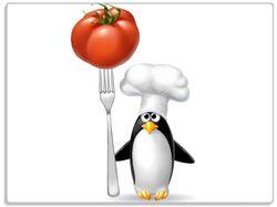 Glasunterlage Pinguin Koch – Bild 1