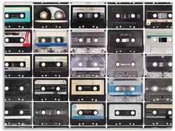 Glasunterlage Retro Kassetten – Bild 1