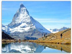 Glasunterlage Matterhorn - Spiegelung im See – Bild 1