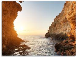 Glasunterlage Höhlen am Meer – Bild 1
