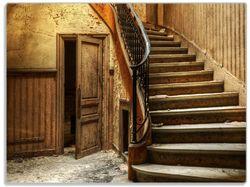 Glasunterlage Rustikale Holztreppe – Bild 1