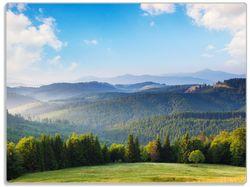 Glasunterlage Berglandschaft im Gebirge unter blauem Himmel – Bild 1