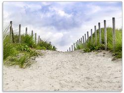 Glasunterlage Auf dem Weg zum Strand durch Dünen – Bild 1
