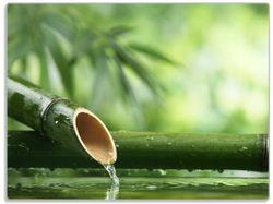 Glasunterlage Bambusquelle  Bambusrohr mit Wasser – Bild 1