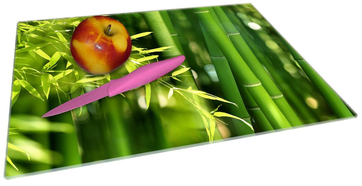 Glasunterlage Bambuswald mit grünen Bambuspflanzen – Bild 2