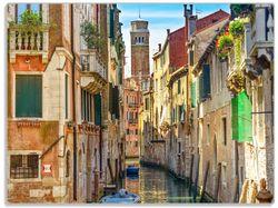 Glasunterlage Urlaub in Venedig  Kanal zwischen bunten Häusern – Bild 1