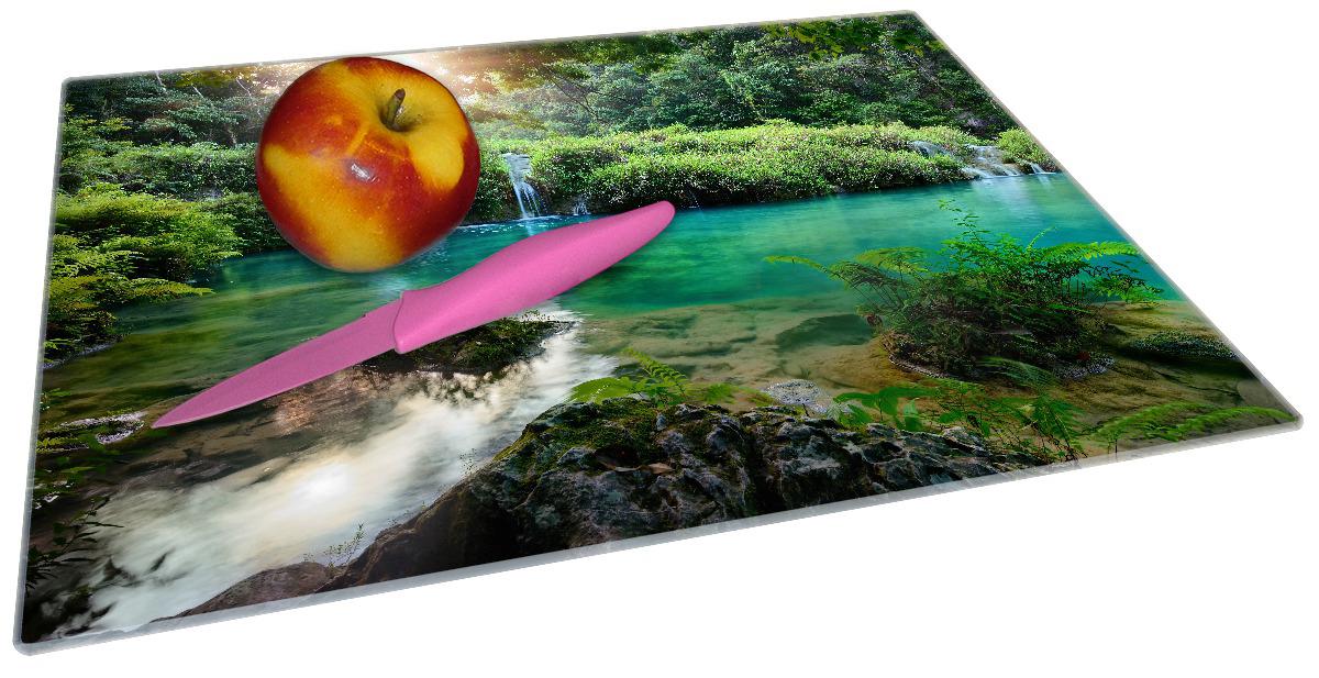 Glasunterlage Türkisgrüner See im Nationalpark in Guatemala – Bild 2