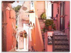 Glasunterlage Südländische Gasse- Italien bei Sonnenschein – Bild 1