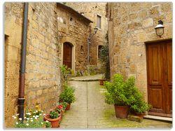 Glasunterlage Weg durch die Altstadt - Toskana in Italien – Bild 1