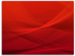 Glasunterlage Abstrakte rotes Muster - roter Stoff – Bild 1