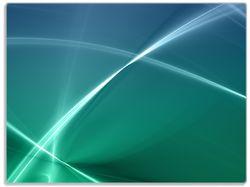 Glasunterlage Abstrakte Formen und Linien in blau grün türkis – Bild 1