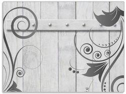 Glasunterlage Graue Holztür mit Schnörkelmuster – Bild 1