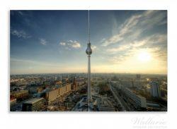 Herdabdeckplatte Fernsehturm Berlin mit Panoramablick über die Stadt