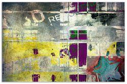 Herdabdeckplatte Retro-Style türkis-rot – Bild 1
