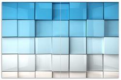 Herdabdeckplatte Blau-weiße Kisten  Schachteln  Muster – Bild 1