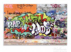 Herdabdeckplatte RAP-Graffiti- Wand mit verschiedenen Tags