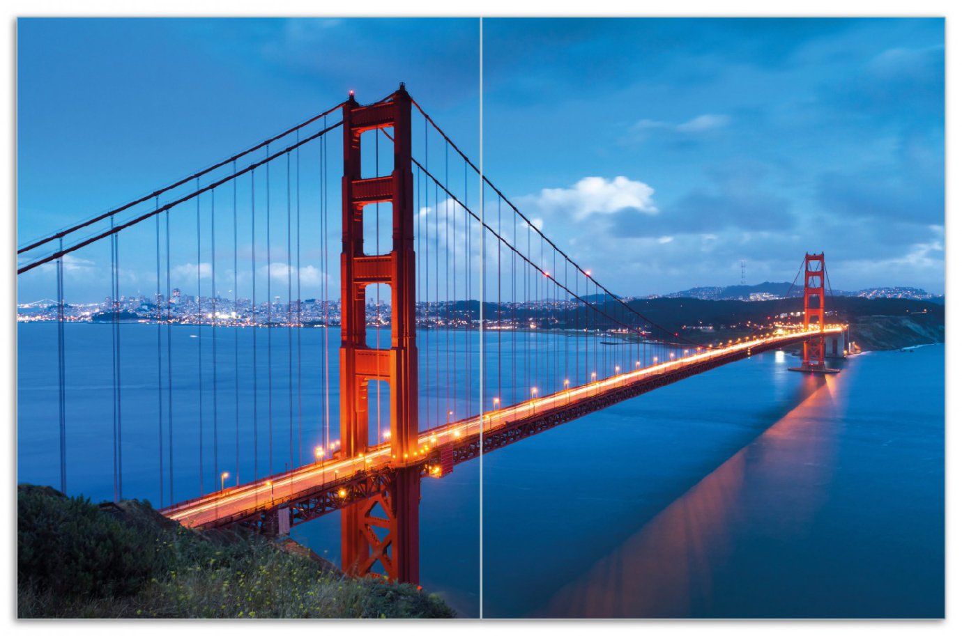 Herdabdeckplatte Golden Gate Bridge in San Francisco  USA – Bild 1