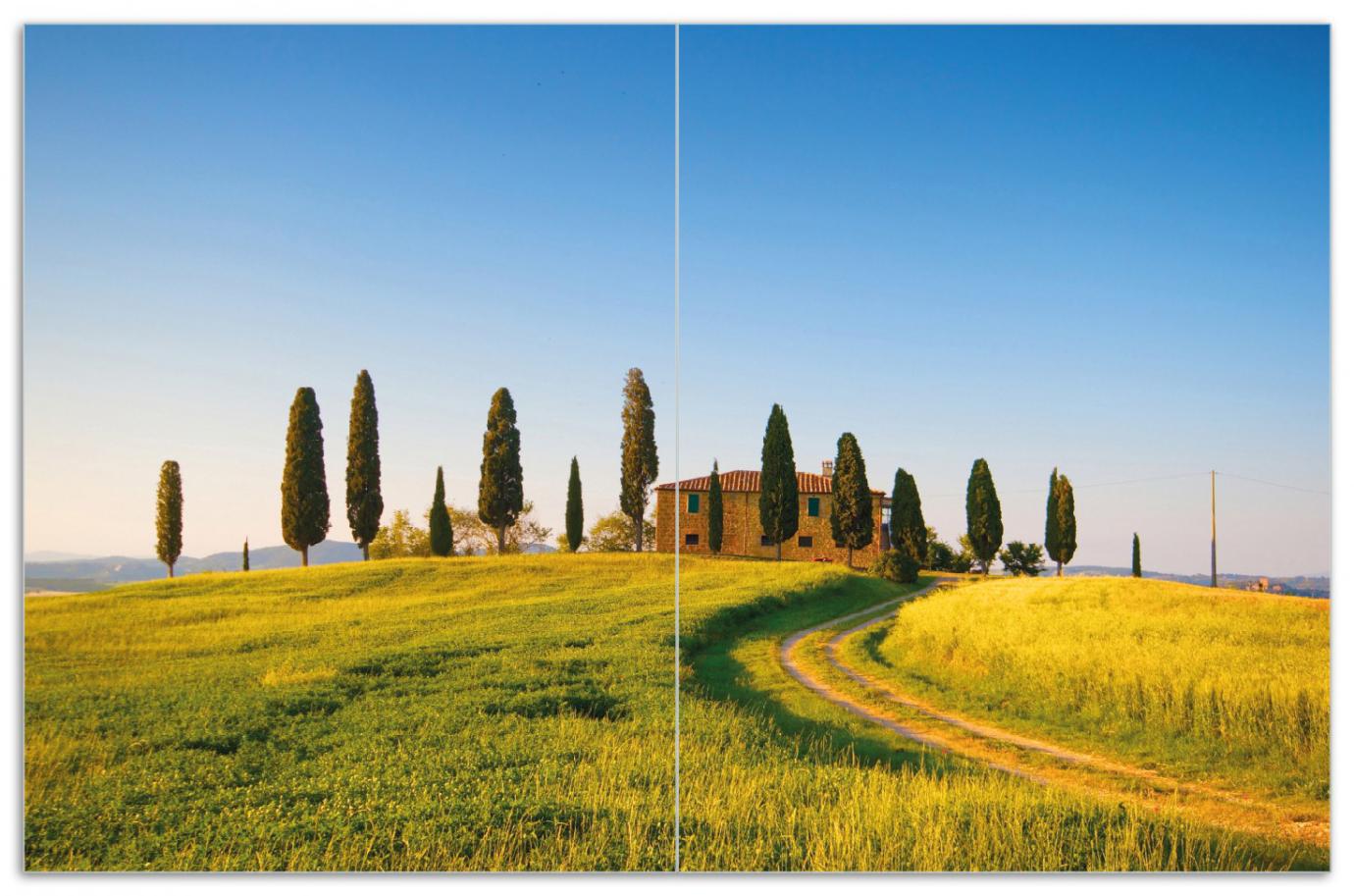 Herdabdeckplatte Villa in der Toskana – Bild 1