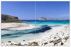 Herdabdeckplatte Einsame Bucht mit weißem Sand und klarem Wasser – Bild 1