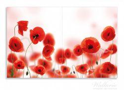Herdabdeckplatte Leuchtende Mohnblumen - Rote Mohnblumenblüten