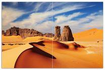 Herdabdeckplatte Felsen und Sand in der Sahara Wüste 001