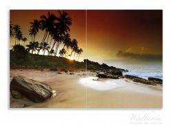 Herdabdeckplatte Sri Lanka - Palmenstrand mit Sonnenuntergang