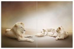 Herdabdeckplatte Löwenfamilie mit Jungtieren – Bild 1