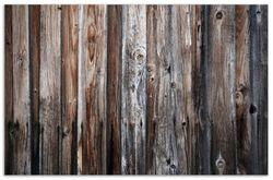 Herdabdeckplatte Alte Holzwand - Holzplanken in grau und braun – Bild 1