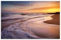 Herdabdeckplatte Sonnenuntergang am Strand - Abendspaziergang – Bild 1