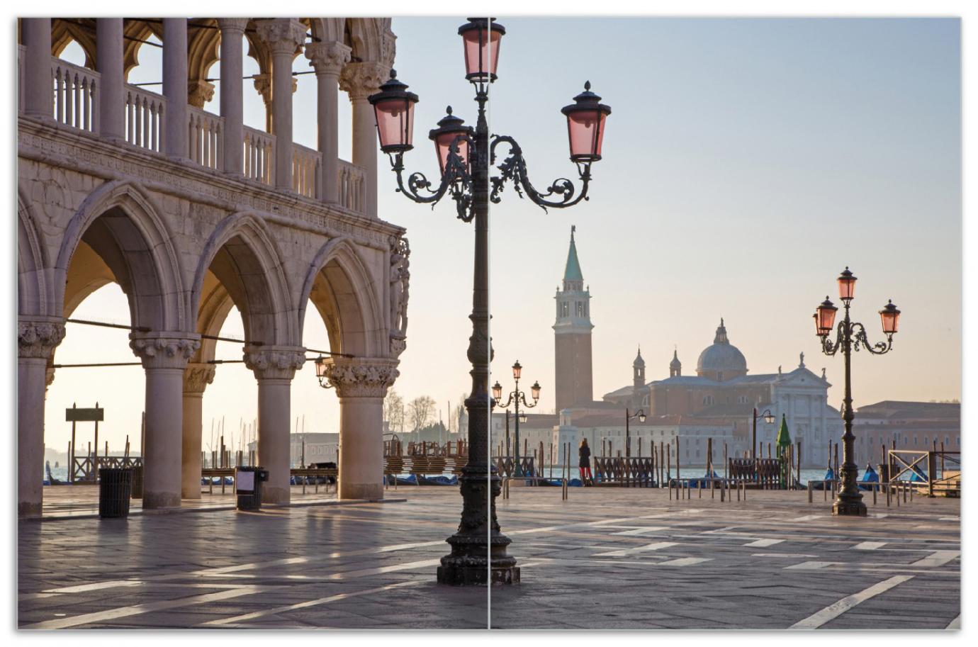 Herdabdeckplatte Venedig - Dogenpalast, Markusplatz und die Kirche San Giorgio Maggiore II – Bild 1