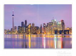 Herdabdeckplatte Toronto Skyline - Kanada am Abend