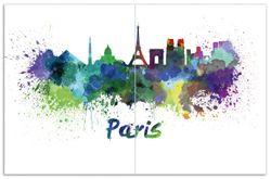 Herdabdeckplatte Städte als Aquarell - Skyline von Paris