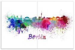 Herdabdeckplatte Städte als Aquarell - Skyline von Berlin – Bild 1