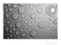 Herdabdeckplatte Wassertropfen in schwarz weiß