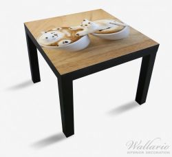 Möbelfolie Süße Milchschaum Katzen auf Kaffee – Bild 1
