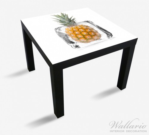 Möbelfolie Ananas in Eiswürfel - Eiskaltes Obst – Bild 1