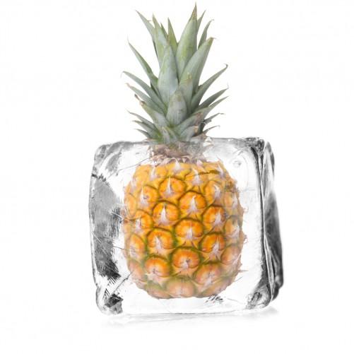 Möbelfolie Ananas in Eiswürfel - Eiskaltes Obst – Bild 3
