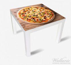 Möbelfolie Italienische Pizza mit Peperoni, Oliven. Paprika und Käse – Bild 1