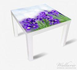 Möbelfolie Abstrakte blaue Schwertlilien in Nahaufnahme – Bild 1