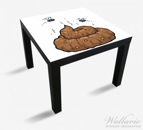 Möbelfolie Comic Scheißhaufen mit Fliegen – Bild 1