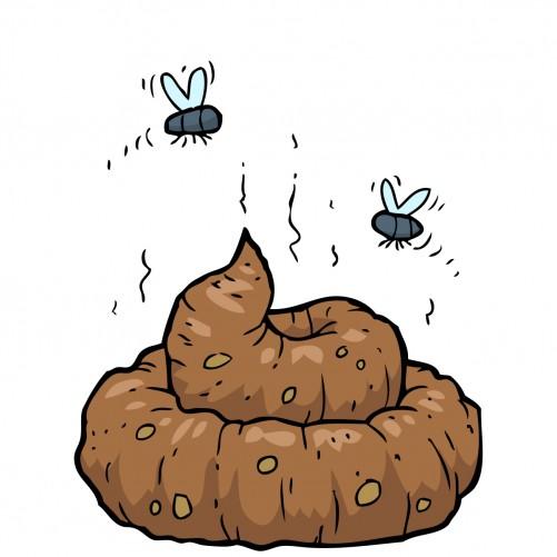 Möbelfolie Comic Scheißhaufen mit Fliegen – Bild 3