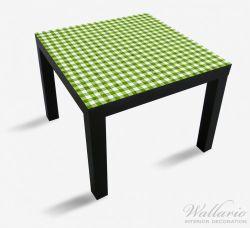 Möbelfolie Muster einer Tischdecke in grün und weiß kariert – Bild 1