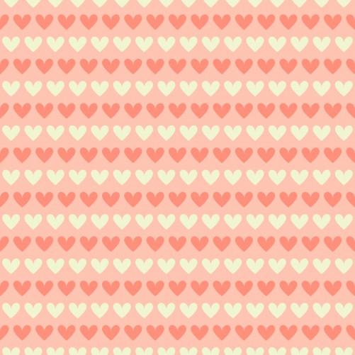 Möbelfolie Muster Herzen in beige und rot  – Bild 3