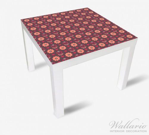 Möbelfolie Muster mit Blumen und Herzen – Bild 2