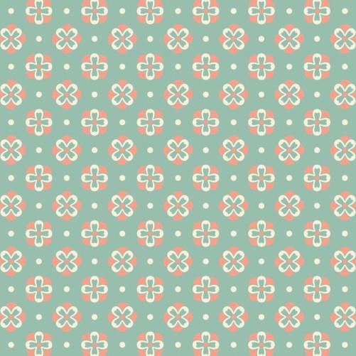 Möbelfolie Muster in rot weiß auf grün - Blütenblätter – Bild 3