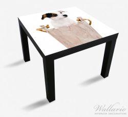 Möbelfolie Hunde-Welpe Jack Russel Terrier in einem Holzeimer – Bild 1