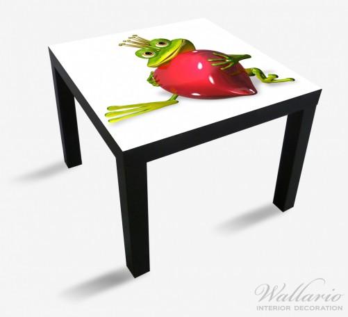 Möbelfolie Verliebter Froschkönig mit großem Herz – Bild 1