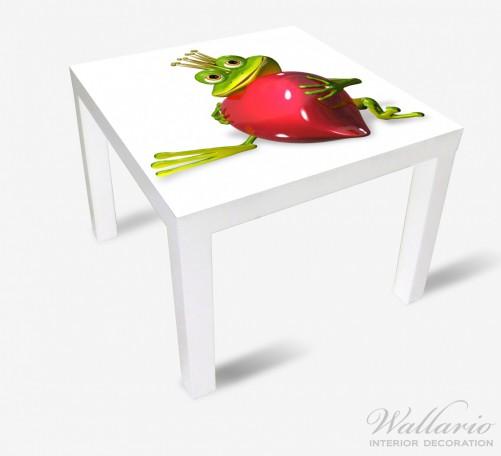 Möbelfolie Verliebter Froschkönig mit großem Herz – Bild 2